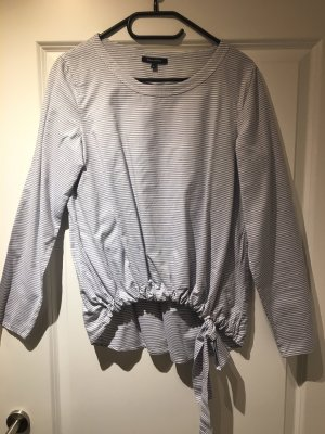 Marc O'Polo Slip-over blouse wit-blauw