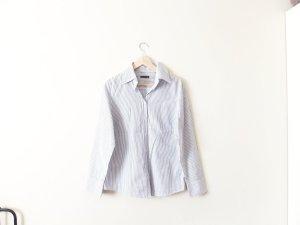 Marc O'Polo Bluse Gr. 40 blau weiß gestreift Baumwolle