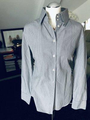 Marc O Polo Bluse grau weiß gestreift Größe 42