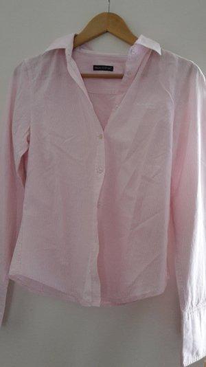 Marc O'Polo Bluse klassisch rosa weiß gestreift 34