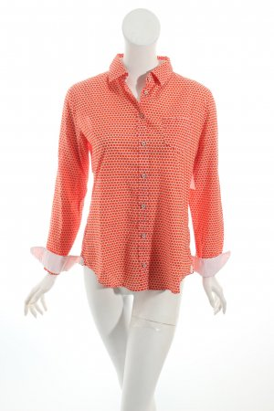 Marc O'Polo Bluse weiß-orange Punktemuster Hippie-Look