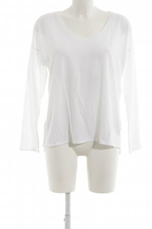 Marc O'Polo Blouse inzetstuk wit casual uitstraling