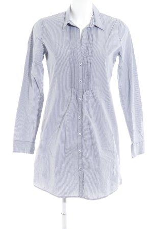 Marc O'Polo Blusenkleid stahlblau-weiß Streifenmuster Casual-Look