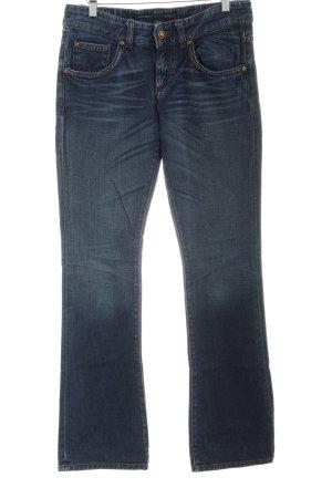 Marc O'Polo Boot Cut spijkerbroek donkerblauw gestippeld casual uitstraling