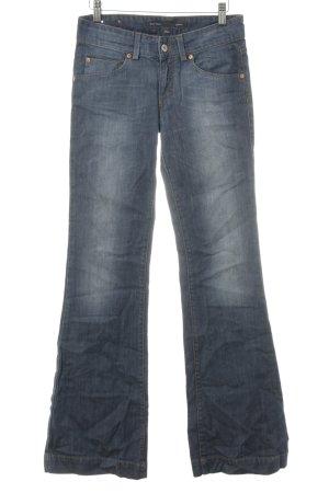Marc O'Polo Boot Cut Jeans graublau Washed-Optik