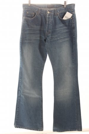 Marc O'Polo Boot Cut Jeans hellblau Used-Optik