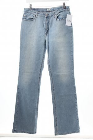 Marc O'Polo Boot Cut Jeans himmelblau-wollweiß Casual-Look