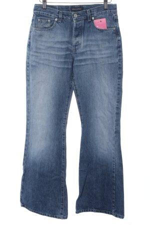 Marc O'Polo Boot Cut Jeans stahlblau Casual-Look