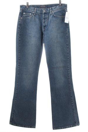 Marc O'Polo Boot Cut Jeans stahlblau-wollweiß Casual-Look