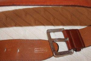 Marc O'Polo Waist Belt dark orange-ocher leather