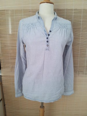 Campus by Marc O'Polo Shirt Blouse white-azure cotton