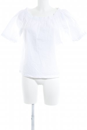 Marc O'Polo Carmen blouse wit casual uitstraling