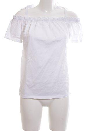 Marc O'Polo Carmen shirt wit casual uitstraling