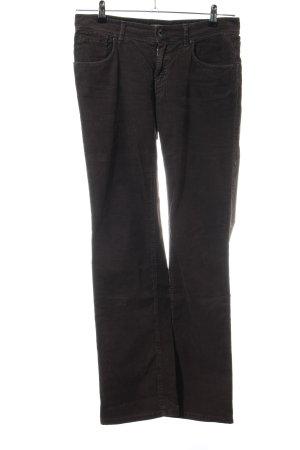 Marc O'Polo Pantalone di velluto a coste nero stile casual