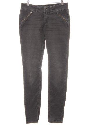 Marc O'Polo Pantalon en velours côtelé gris ardoise style décontracté