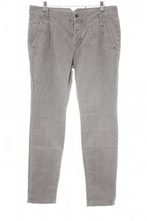 Marc O'Polo Pantalon en velours côtelé gris clair style décontracté