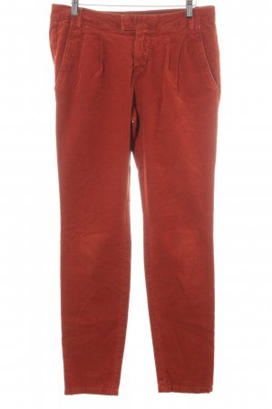 Marc O'Polo Pantalon en velours côtelé rouille style décontracté