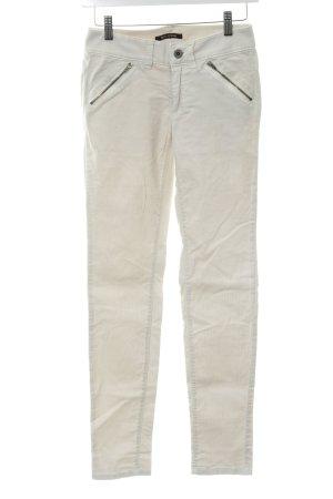 Marc O'Polo Pantalon en velours côtelé blanc cassé style décontracté