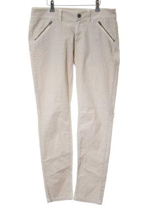 Marc O'Polo Pantalone di velluto a coste bianco sporco stile casual
