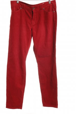 Marc O'Polo Corduroy Trousers brick red street-fashion look