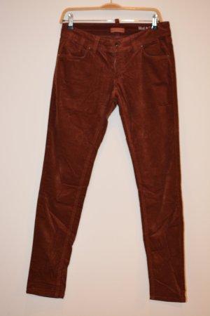 Marc O'Polo Pantalon en velours côtelé rouille coton
