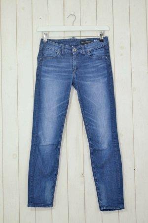MARC O'POLO Damen Jeans Mod.Skara Cropped Denim Blau Baumwolle Elastan Gr. W27