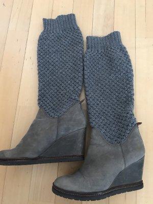 separation shoes 556cb 25576 Marc O'Polo Damenstiefel Gr. 37 Strick/Leder Kombi