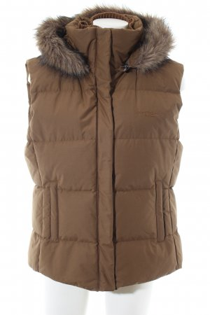 Marc O'Polo Down Vest brown quilting pattern casual look