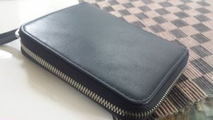 Marc O'Polo Wallet dark blue leather