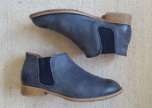Marc o'Polo Echtleder Chelsea Boots graublau, Gr. 39 (8)