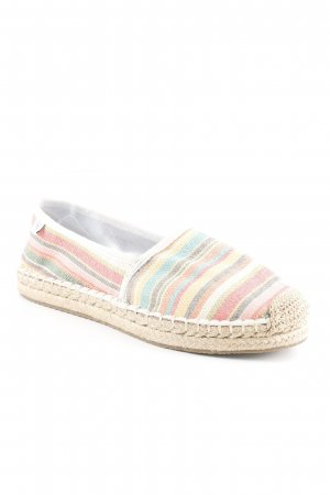 Marc O'Polo Espadrille sandalen gestreept patroon straat-mode uitstraling