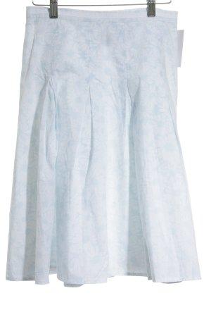Marc O'Polo Faltenrock weiß-hellblau Blumenmuster klassischer Stil
