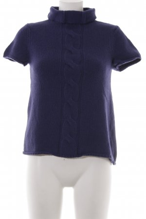 Marc O'Polo Cardigan en maille fine bleu violet-violet foncé torsades