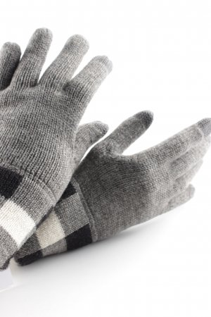 Marc O'Polo Gloves grey-black check pattern casual look