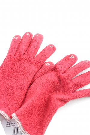 Marc O'Polo Fingerhandschuhe rot-hellgrau Casual-Look