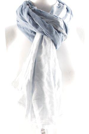 Marc O'Polo Sjaal met franjes lichtblauw-staalblauw kleurverloop