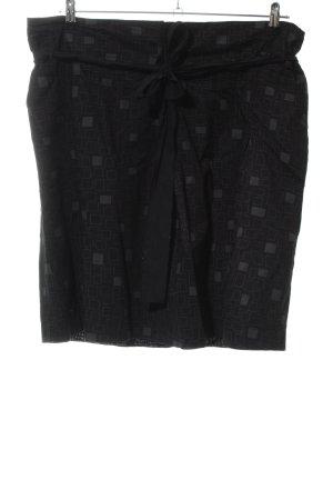 Marc O'Polo Gonna a campana nero-grigio chiaro stampa integrale stile casual