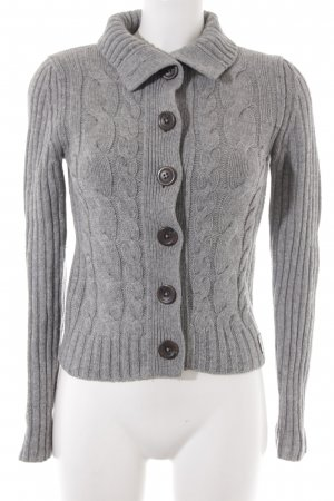 Marc O'Polo Coarse Knitted Jacket light grey cable stitch