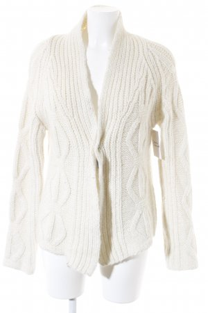 Marc O'Polo Coarse Knitted Jacket natural white-silver-colored cable stitch