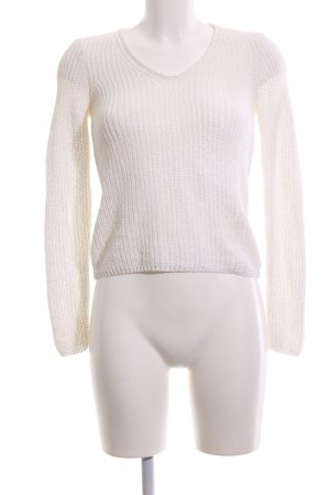 Marc O'Polo Coarse Knitted Sweater white cable stitch casual look