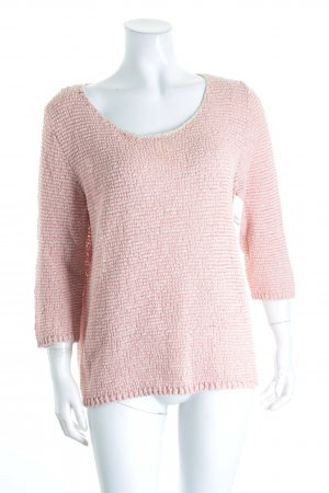 Marc O'Polo Grobstrickpullover wollweiß-pink Casual-Look