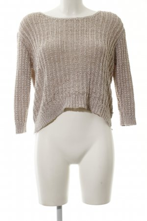 Marc O'Polo Crochet Sweater brown cable stitch casual look