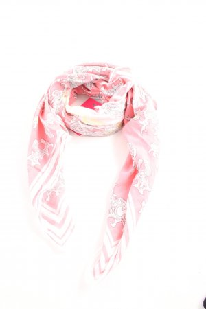 Marc O'Polo Halsdoek roze-wolwit abstract patroon casual uitstraling