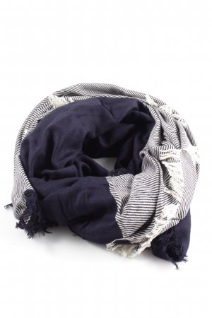 Marc O'Polo Neckerchief blue-white striped pattern casual look