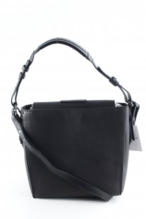 "Marc O'Polo Handtasche ""Thirtyfive Washed Leather Cube Bag Black"" schwarz"