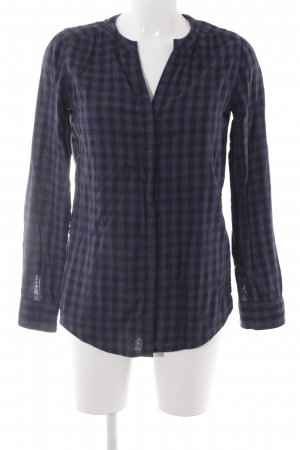 Marc O'Polo Hemd-Bluse blau-schwarz Karomuster Casual-Look