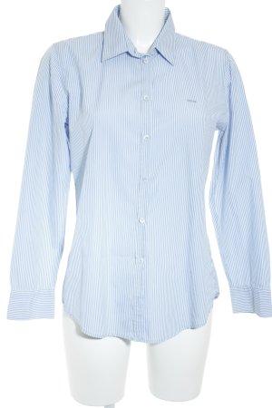 Marc O'Polo Hemd-Bluse blau-weiß Streifenmuster Casual-Look