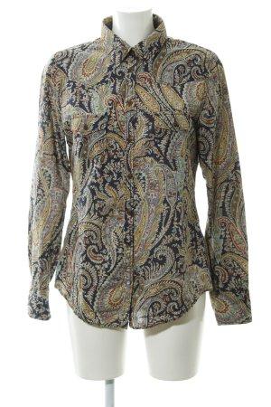 Marc O'Polo Blusa-camisa azul oscuro-malva estampado con diseño de cachemira