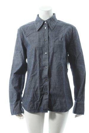 Marc O'Polo Hemd-Bluse dunkelblau Casual-Look