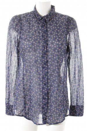 Marc O'Polo Hemd-Bluse dunkelblau-pink abstraktes Muster Casual-Look
